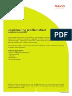 Ruukki Load Bearing Profiled Sheet Installation Instructions