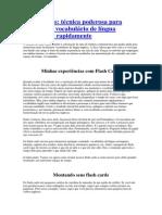 Flash Cards - Tecnica de Memorizacao de Vocabulario de Ingles