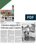 Cámara asigna $5.5 millones para Cataño, El Expresso 21/11/13.