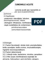 Cursul 3 Pneumoniile Acute