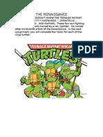 Teaching the Rennaissance using the Teenage Mutant Ninja Turtles