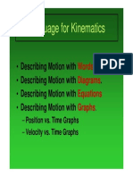 Language for Kinematics