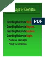 Language for Kinematics