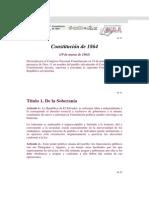 Constitucion de 1864