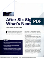 After Six Sigma-What's Next