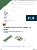 Tutorial transmissor e receptor RF Link com Arduino - Laboratorio de Garagem (arduino, eletrônica, robotica, hacking)