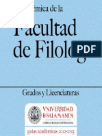 Facultad de Filologia 2012 2013
