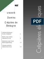 Krampouz_Notice Diabolo, Domino, Crêpière de Bretagne