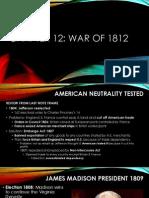 chapter 12 war of 1812