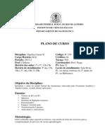Plano de Curso Alg. Linear II 3 e 5