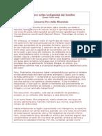Pico Della Mirandola Discurso Sobre La Dignidad Del Hombre