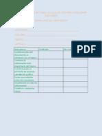 lista de cotejo para evaluar un organizador grfico