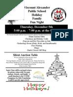 Holiday Family Fun Night 2013 Flyer