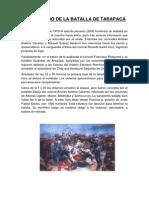 ANIVERSARIO DE LA BATALLA DE TARAPACÁ