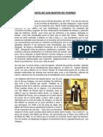 BIOGRAFÍA DE SAN MARTIN DE PORRES