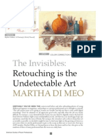 Retouching is the Undetectable Art; Profile article featuring the work of Photoshop / Color / Retouching / Specialist  Martha DiMeo