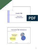 4-Livello ISA- Tipi Di Istruzioni