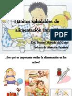 Hábitos saludables de alimentación infantil