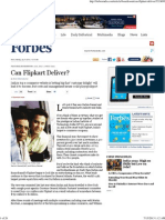 Forbes India Magazine - Can Flipkart Deliver