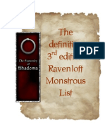 The Definitive 3 e Raven Loft Monster List