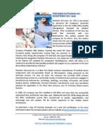 Precision Extrusion Inc. Registered ISO 13485