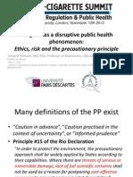E-Cigarettes a disruptive public health phenomenon - E-Cigarette Summit