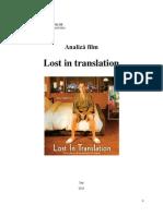 Analiza Film - Lost in Translation