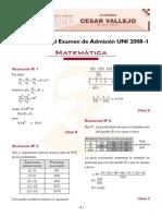 Solucionario Matematica 2008 I