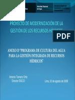 CULTURA DEL AGUA Componente Iv_cultura Del Agua - Ing. Antonio Tamariz