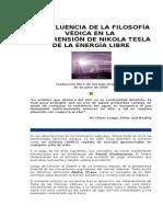 LA INFLUENCIA DE LA FILOSOFÍA VÉDICA EN LA COMPRENSIÓN DE NIKOLA TESLA DE LA ENERGÍA LIBRE