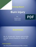 Morning Report Burn Injury