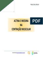 05. Actina e Miosina na Contração Muscular