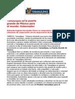 com 0465. 171105 Eugenio Hernández Flores refrenda su compromiso de cooperación con empresarios.
