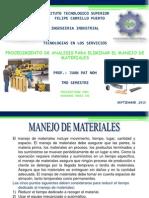 Procedimiento de Analisis Para Eliminar El Manejo de Materiales.