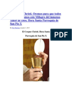 El Corpus Christi Hora Santa