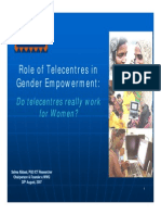 Role of Telecentres in GenderEmpowerment