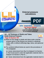 ASME VIII Div. 1- 5 External Pressure