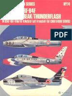 Osprey Aircam Aviation Series 14 - Republic F-RF-84F Thunderstreak-Thunderflash in USAF-BAF-R Nor AF-R Neth AF-Luft-French AF-TAF-CNAF & RDAF Service