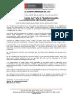POLICÍA NACIONAL CAPTURÓ A PELIGROSA BANDA