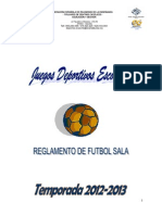 Reglamento Futbol Sala 2012-2013