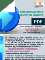 ASME VIII Div. 1- 6 Pressure Testing
