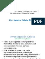 Modelos de Cambio Organizacional y Desarrollo Organizacional