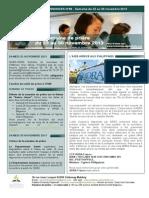 Bulletin d'annonces N°85 Semaine du 23 au 30 novembre 2013
