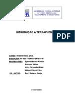 Introdução a terraplenagem UFPR (material específico para estradas)