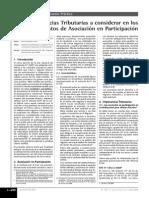 Implicancias en Los Contratos de Asociacion en Participacion