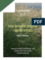 2011_26 Bioseguridad Ambiental y Seguridad Alimentaria