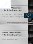 Effective SLO Assessment in the Online Environment