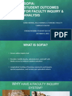 SOFIA:Student Outcomes for faculty inquiry & Analysis