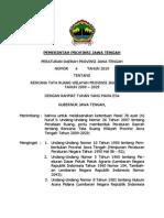 Peraturan Daerah Provinsi Jawa Tengah Nomor 6 Tahun 2010 Tentang Rencana Tata Ruang Wilayah Provinsi Jawa Tengah Tahun 2009 - 2029