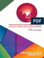 ESF Emerging Leaders Summit Program